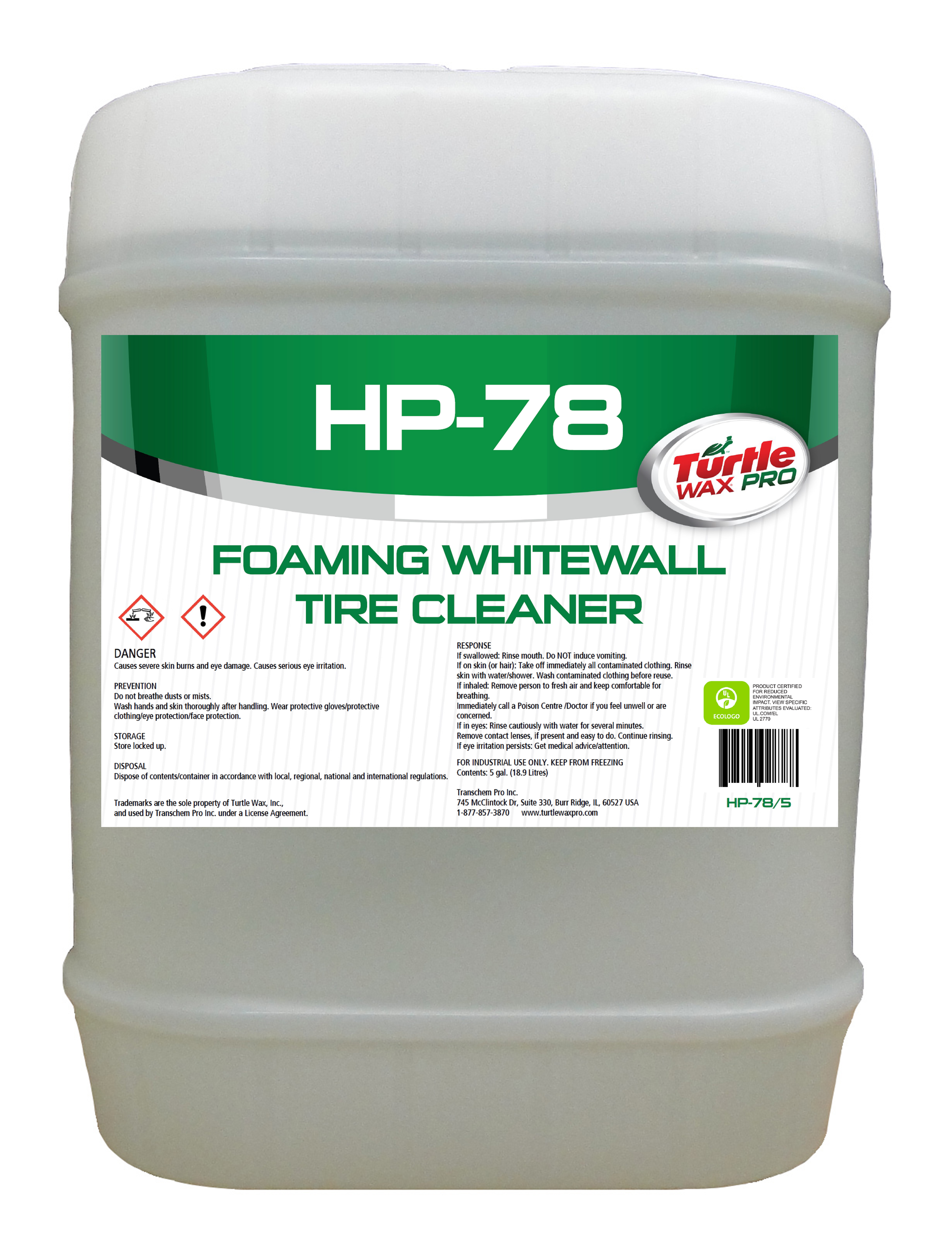hp78 foaming whitewall tire cleaner